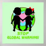 Pare el poster del calentamiento del planeta