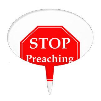 Pare el predicar palillos de tarta