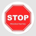 Pare el procrastinar - pegatina