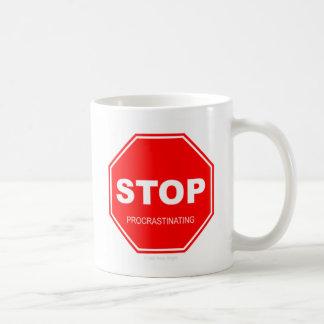 Pare el procrastinar - taza