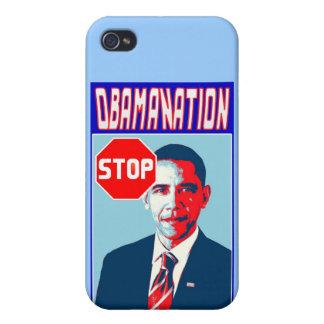Pare el producto político de la sátira del arte po iPhone 4 cárcasa