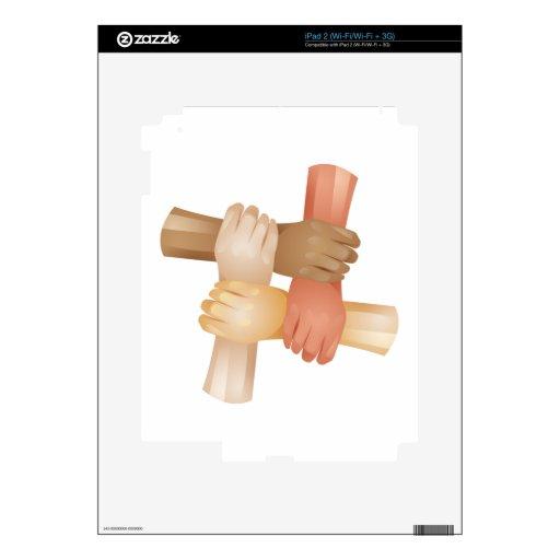 Pare el racismo calcomanía para iPad 2