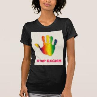 pare el racismo camiseta