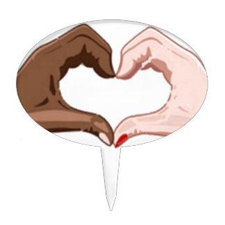 Pare el racismo palillos de tarta