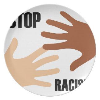 Pare el racismo plato