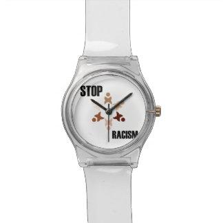 Pare el racismo reloj de mano