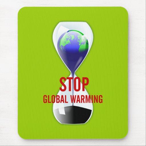 Pare el reloj de arena Mousepad del calentamiento