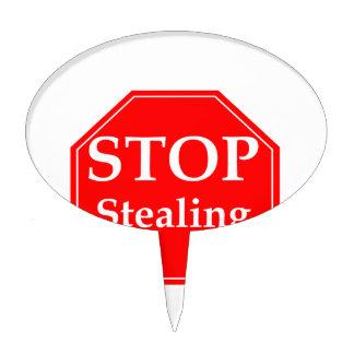 Pare el robar decoración de tarta