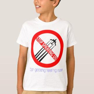 Pare el rociar de nosotros - prohibición camisas