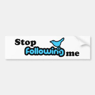 Pare el seguir de mí etiqueta de parachoque