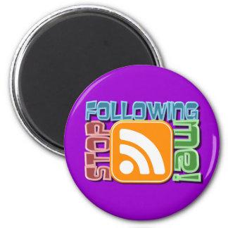 ¡Pare el seguir de mí! Diseño del botón del icono  Imán Redondo 5 Cm