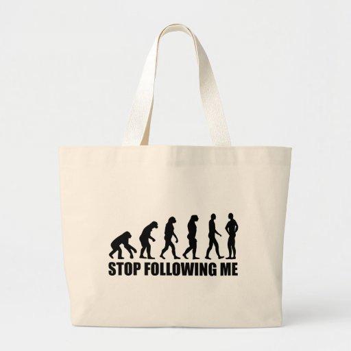 Pare el seguir de mí evolución bolsas de mano