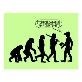¡Pare el seguir de mí, yo son un Creationist! Tarjetas Postales