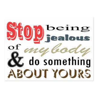 Pare el ser celoso de mi cuerpo plantilla de tarjeta personal