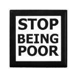 Pare el ser pobre cajas de regalo