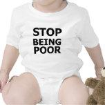 Pare el ser pobre camiseta