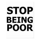 Pare el ser pobre postal