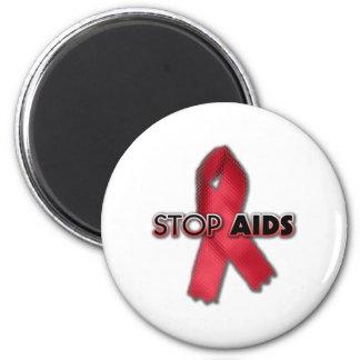 Pare el SIDA (la línea) Imán Redondo 5 Cm