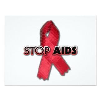 """Pare el SIDA (la línea) Invitación 4.25"""" X 5.5"""""""