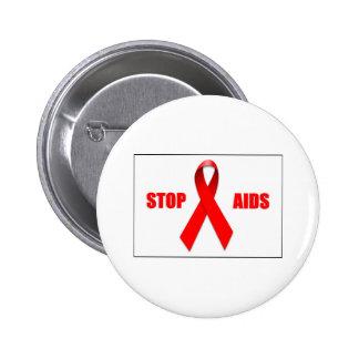 PARE EL SIDA PIN REDONDO 5 CM