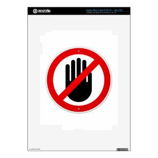 Pare el símbolo de la mano pegatina skin para iPad 3