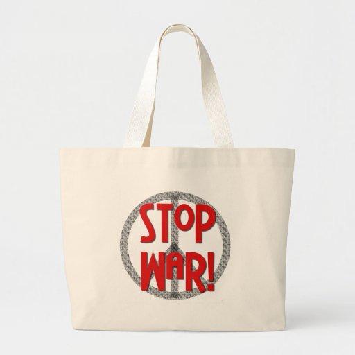 Pare el símbolo de paz de la guerra bolsas
