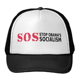 Pare el socialismo de Obama - SOS Gorro De Camionero