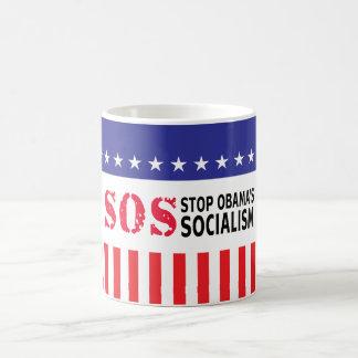 Pare el socialismo de Obama - SOS Tazas