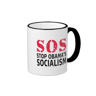 Pare el socialismo de Obama - SOS Tazas De Café