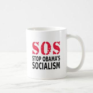 Pare el socialismo de Obama - SOS Taza