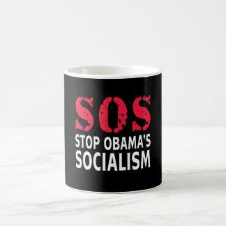 Pare el socialismo de Obama - SOS Taza De Café