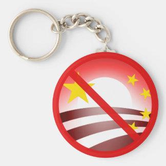 Pare el socialismo de Obammunist Llavero Redondo Tipo Pin