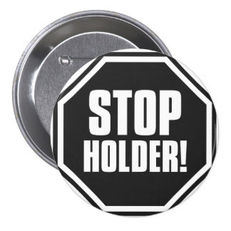 ¡Pare el tenedor! Pin Redondo De 3 Pulgadas