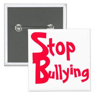 Pare el tiranizar - botón importante del mensaje pin cuadrado
