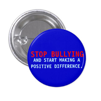 Pare el tiranizar - botón Matón-Azul del Pin de lo