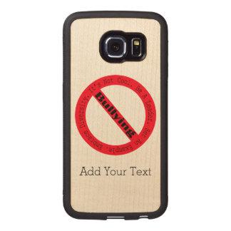 Pare el Tiranizar-Logotipo de Shirley Taylor Fundas De Madera Para Samsung S6 Edge