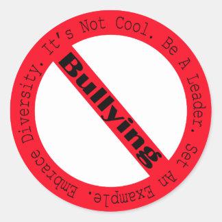 Pare el Tiranizar-Logotipo de Shirley Taylor Pegatina Redonda