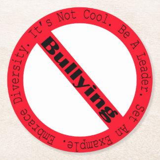 Pare el Tiranizar-Logotipo Posavasos De Cartón Redondo