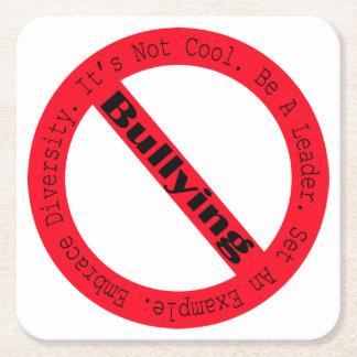 Pare el Tiranizar-Logotipo Posavasos Personalizable Cuadrado