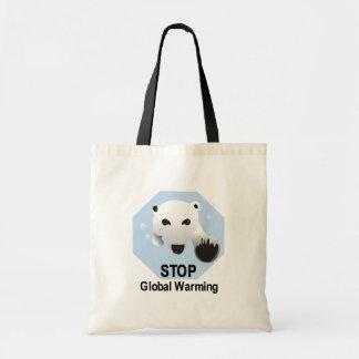 Pare el totebag del calentamiento del planeta bolsa de mano