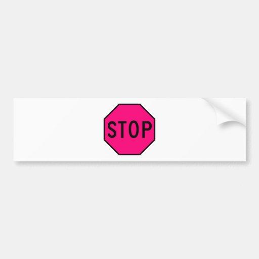 Pare el tráfico de la precaución del símbolo de la pegatina para auto