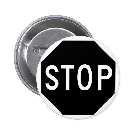 Pare el tráfico de la precaución del símbolo de la pin redondo 5 cm