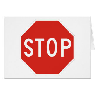Pare el tráfico de la precaución del símbolo de la tarjeton