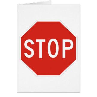 Pare el tráfico de la precaución del símbolo de la tarjetas