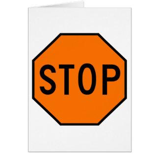 Pare el tráfico de la precaución del símbolo de la felicitaciones