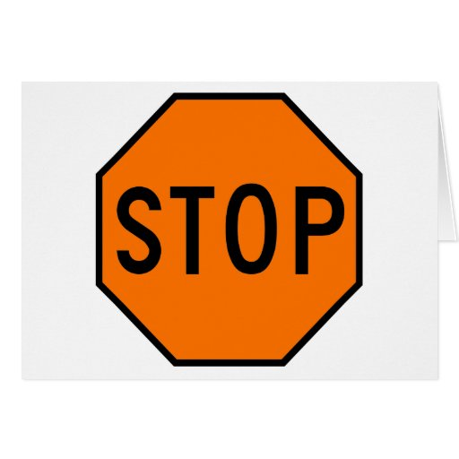 Pare el tráfico de la precaución del símbolo de la tarjeta de felicitación