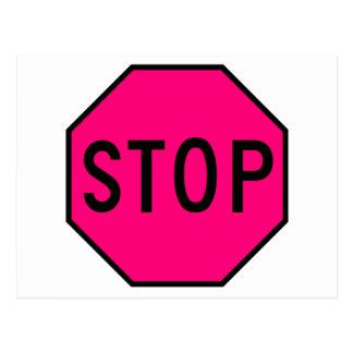 Pare el tráfico de la precaución del símbolo de la postal