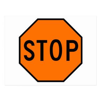 Pare el tráfico de la precaución del símbolo de la tarjeta postal