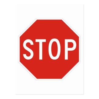 Pare el tráfico de la precaución del símbolo de la postales