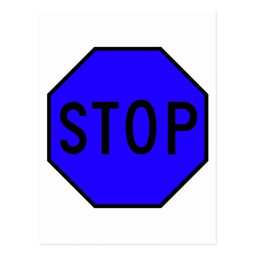 Pare el tráfico de la precaución del símbolo de la tarjetas postales